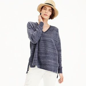 J. Crew Blue Heathered V Neck Sweatshirt M